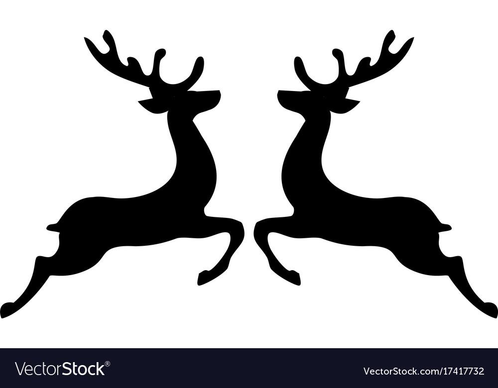 christmas reindeer royalty free vector image vectorstock
