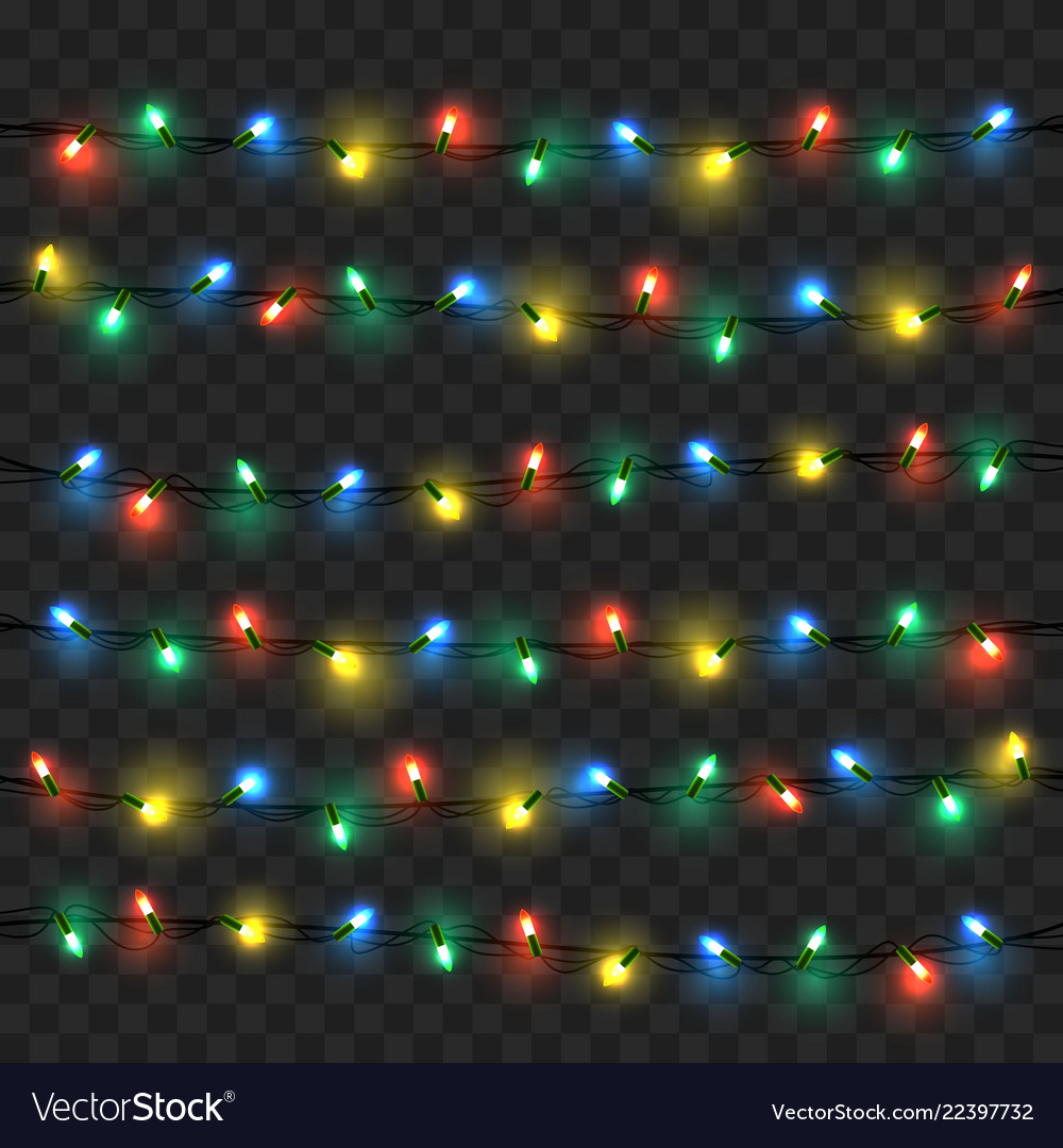Glowing lights for xmas holiday greeting