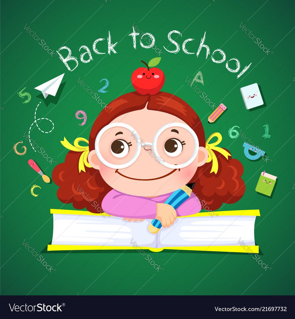 Little girl for back to school