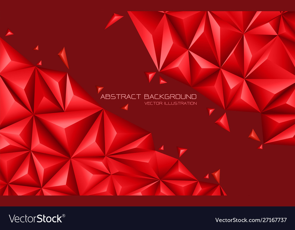 Abstract red tone triangle 3d design modern