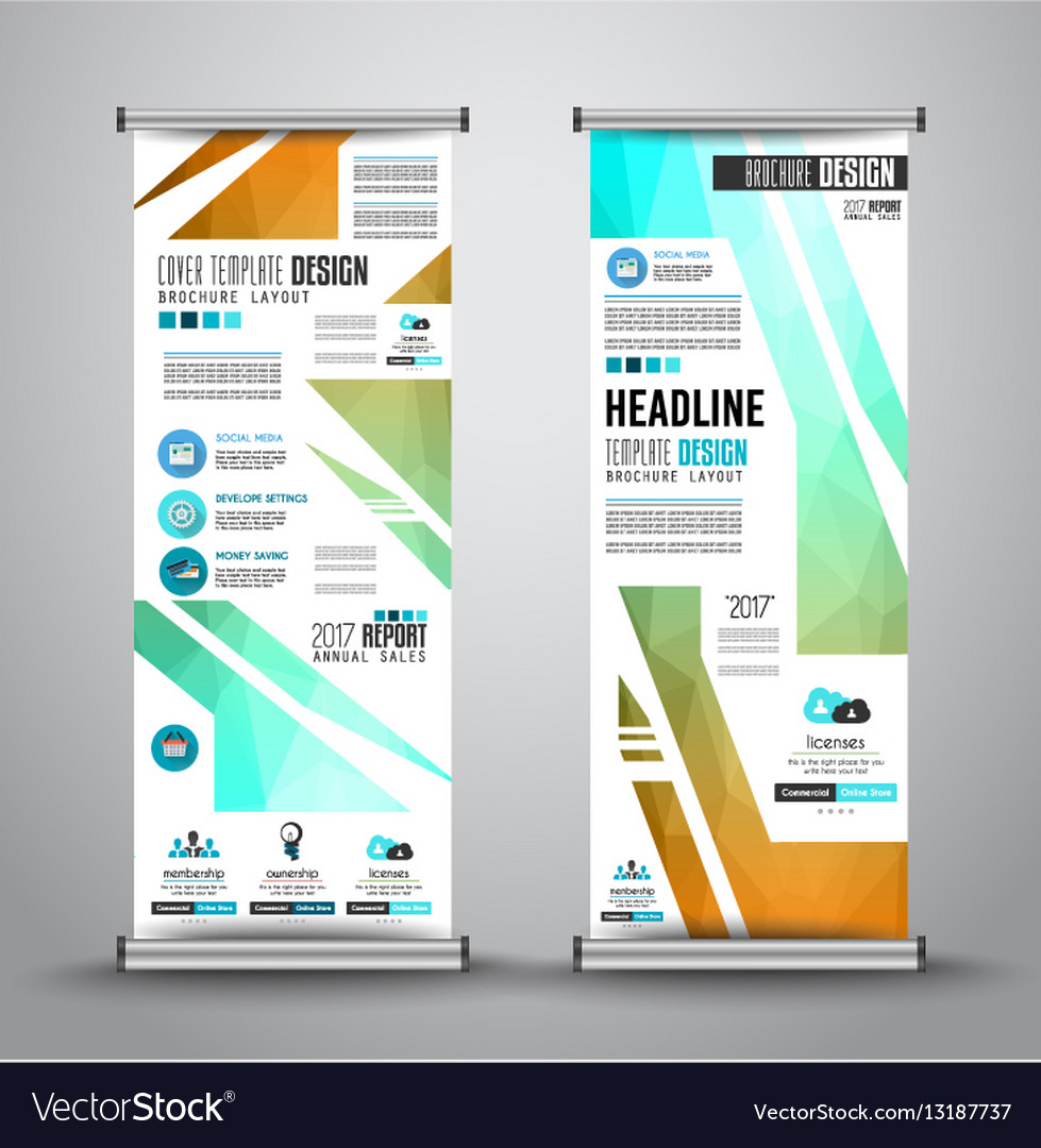Advertisement roll up business flyer or brochure
