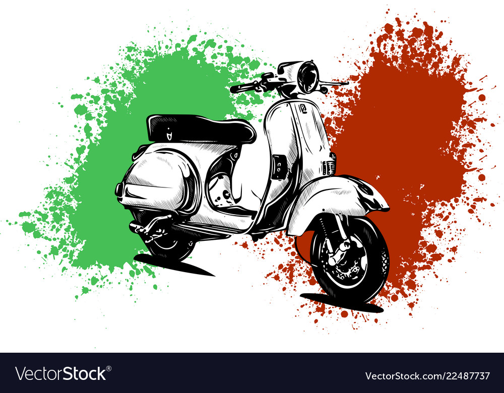 An italian scooter with