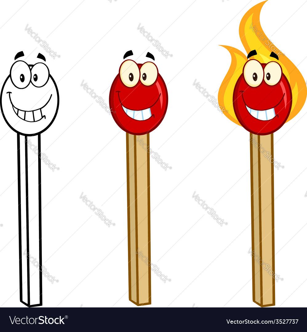 Cartoon flame and fire design vector image