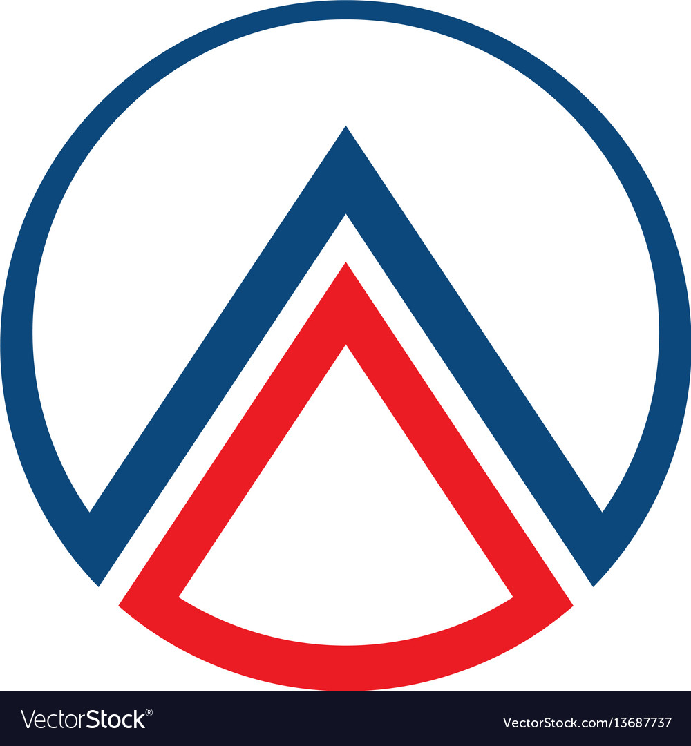 Circle with triangle logo
