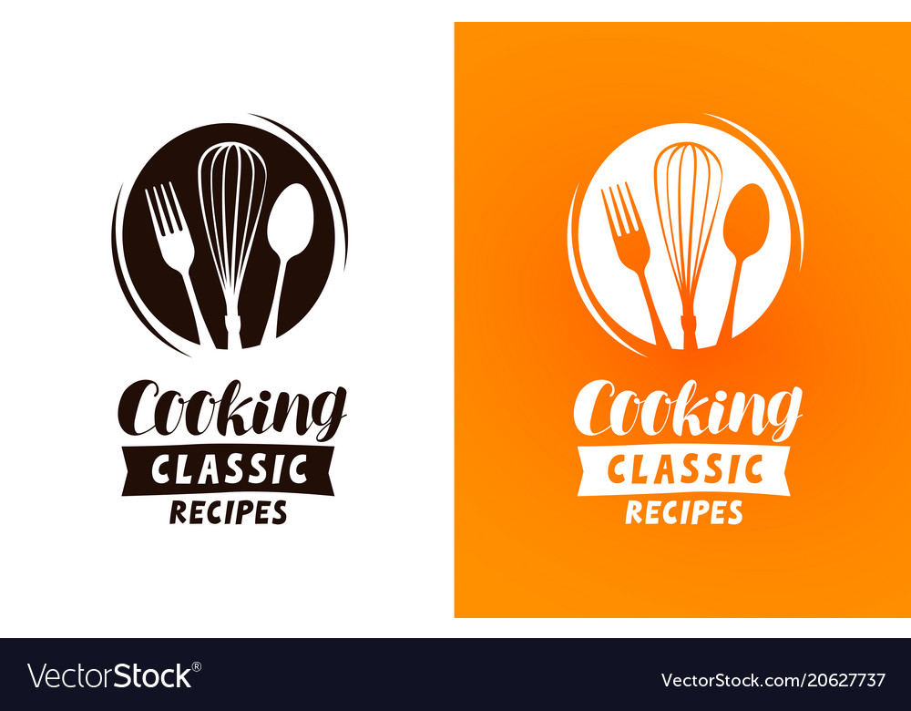 Cooking logo or label food cuisine concept vector image forumfinder Choice Image
