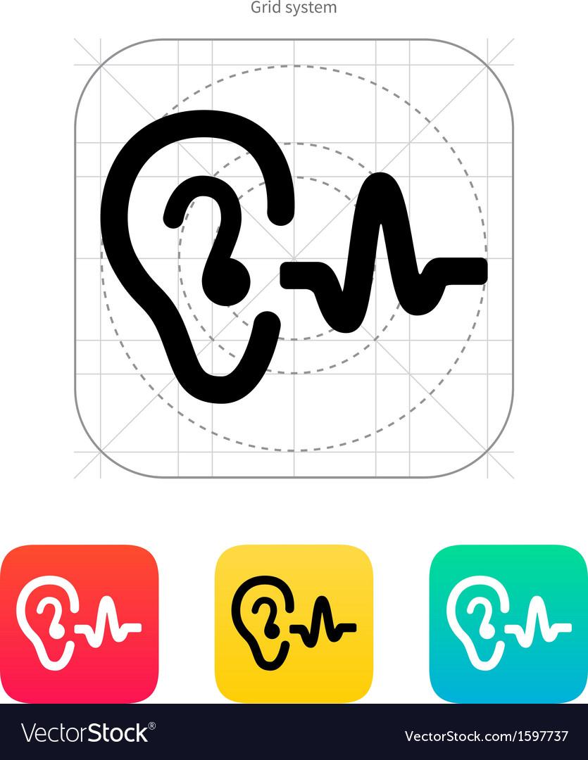 Ear hearing sound icon