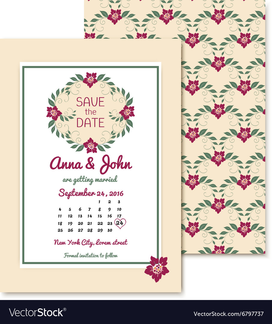 Floral vintage invitations with text Gentle