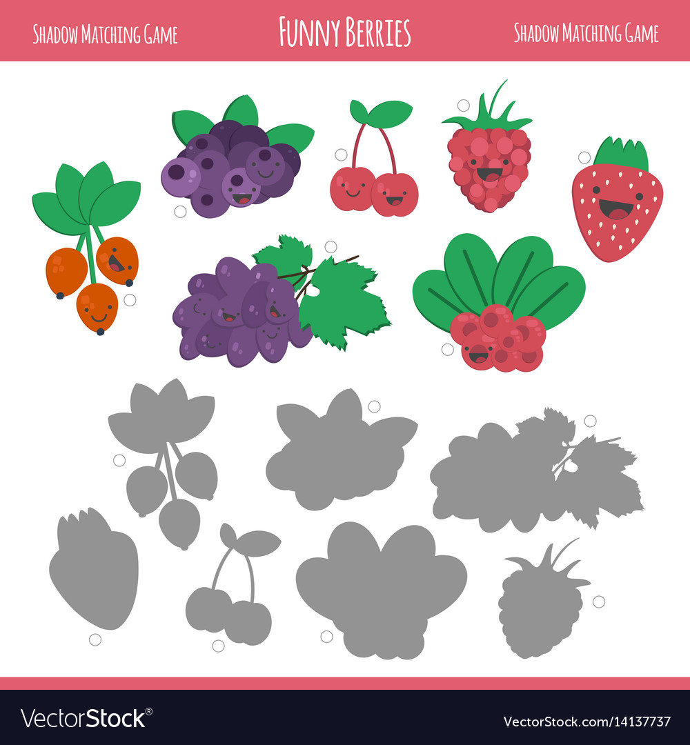 Matching game with berries for preschool children