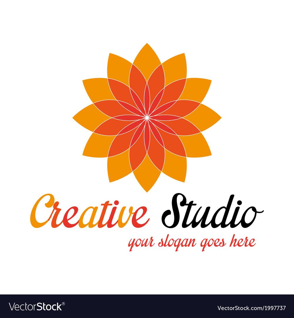 Orange media logo template