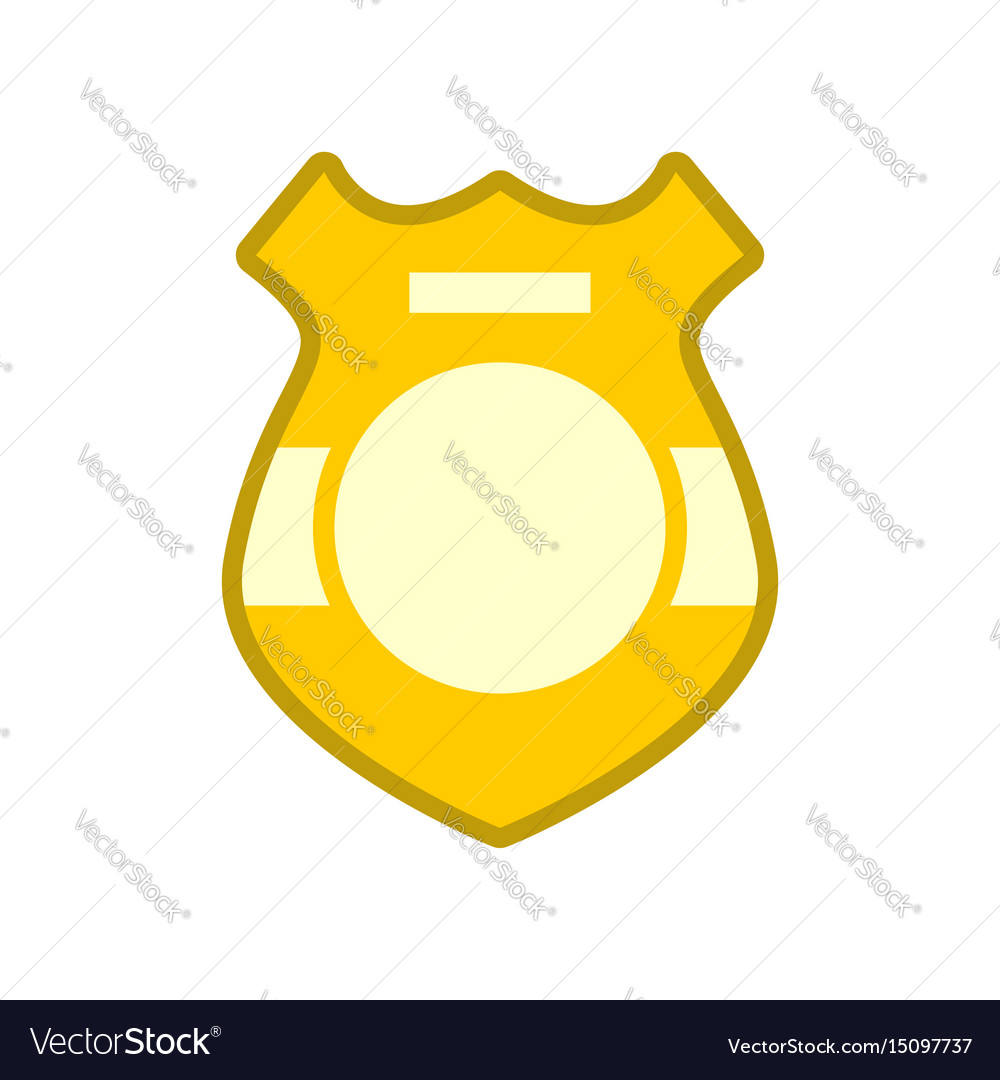 Police badge isolated sign of policeman officer