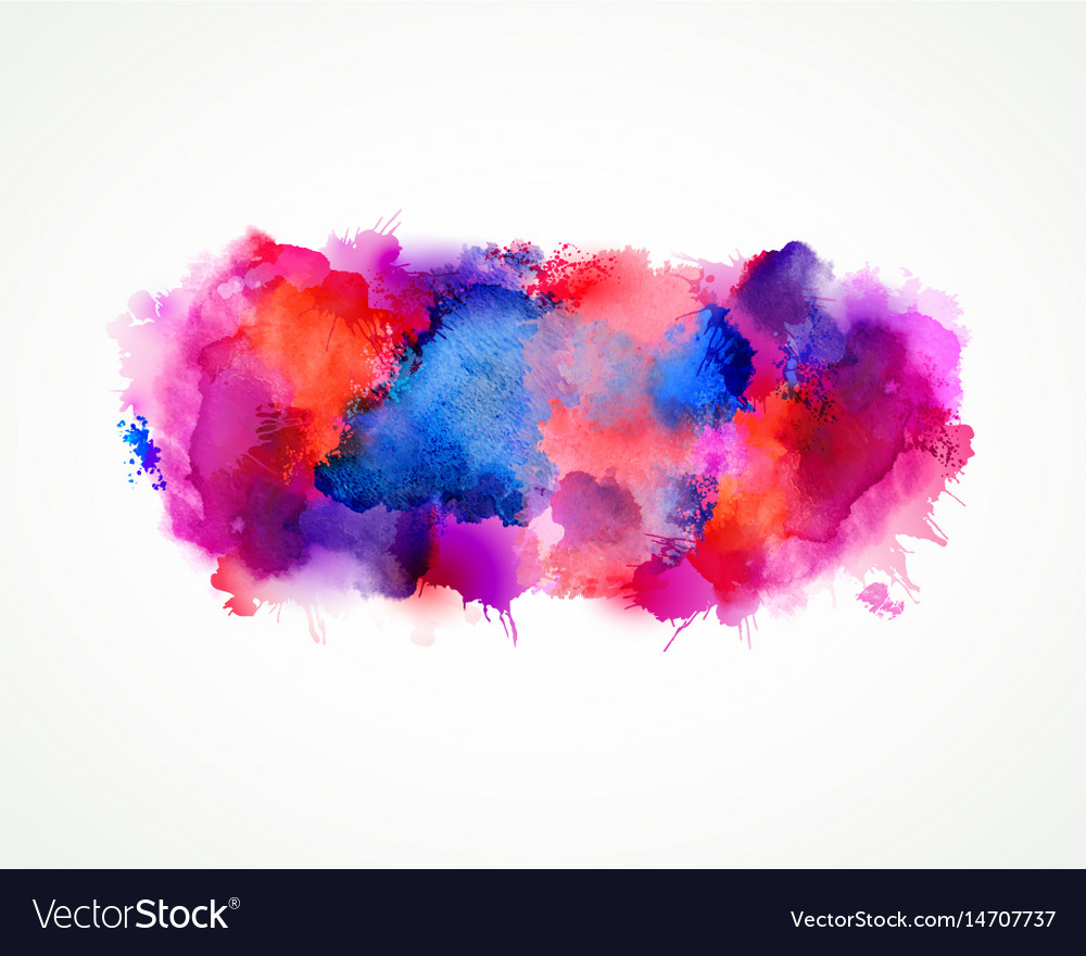Purple blue lilac orange and pink watercolor