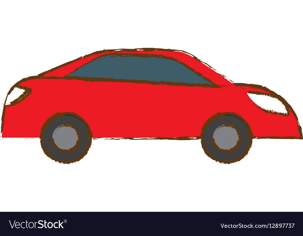 Red car city scene image design vector image