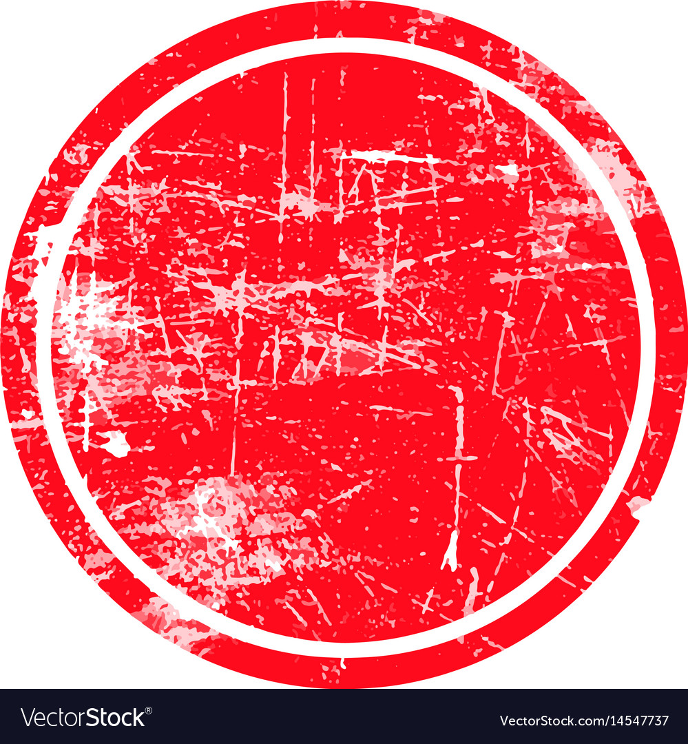 Red circle grunge stamp with blank isolated