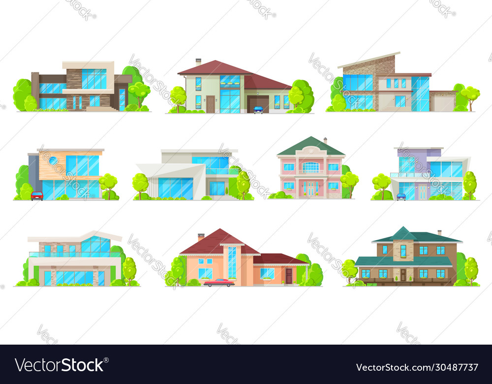 Residential real estate private houses buildings