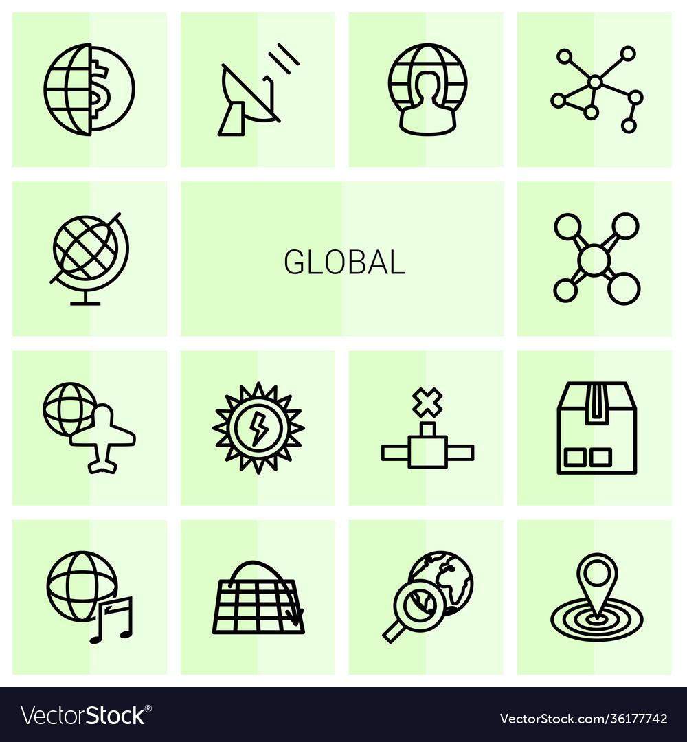 14 global icons