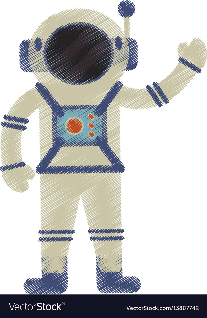 Drawing astronaut spacesuit helmet antenna
