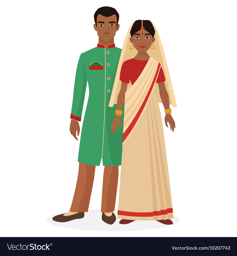Indian family Indian man and woman couple in