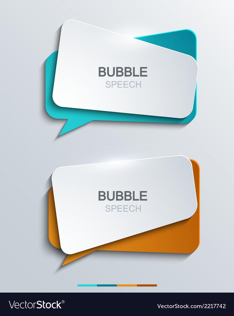 Modern bubble speech icons set