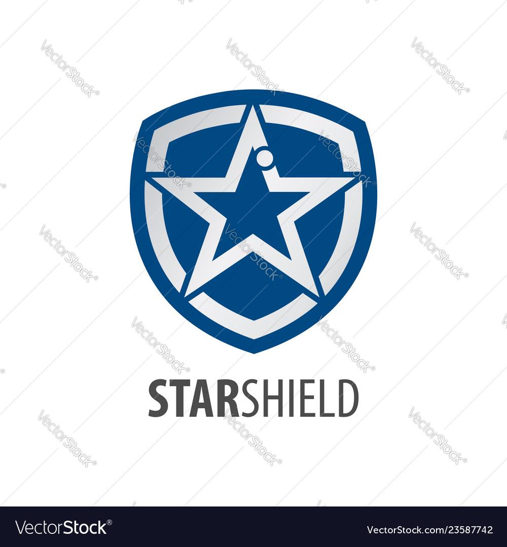 Star shield logo concept design symbol graphic