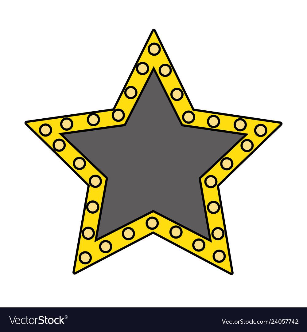 Stars lights sign symbol