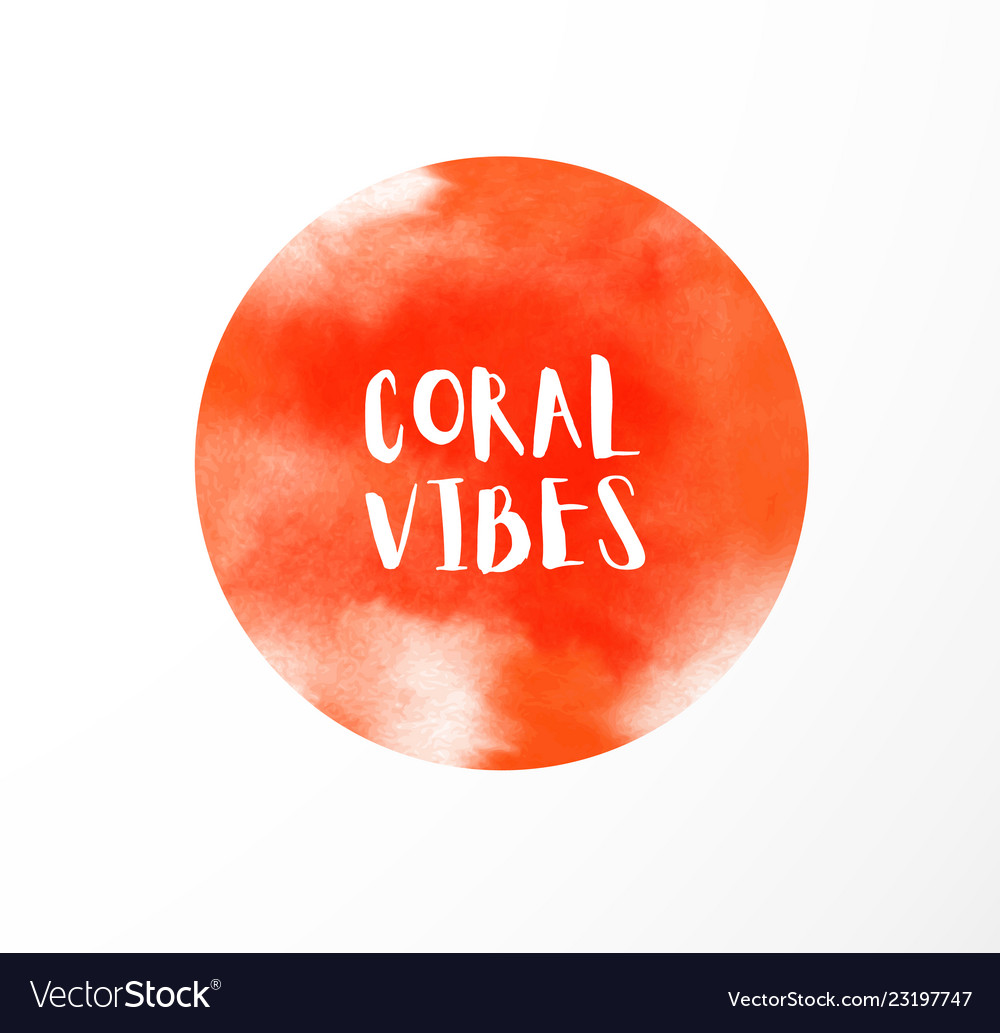 Abstract background with coral - color of the year