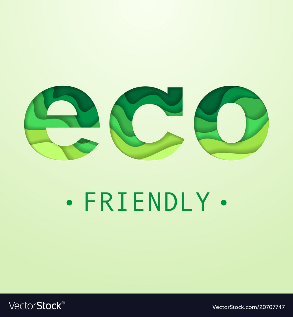 Eco friendly placard