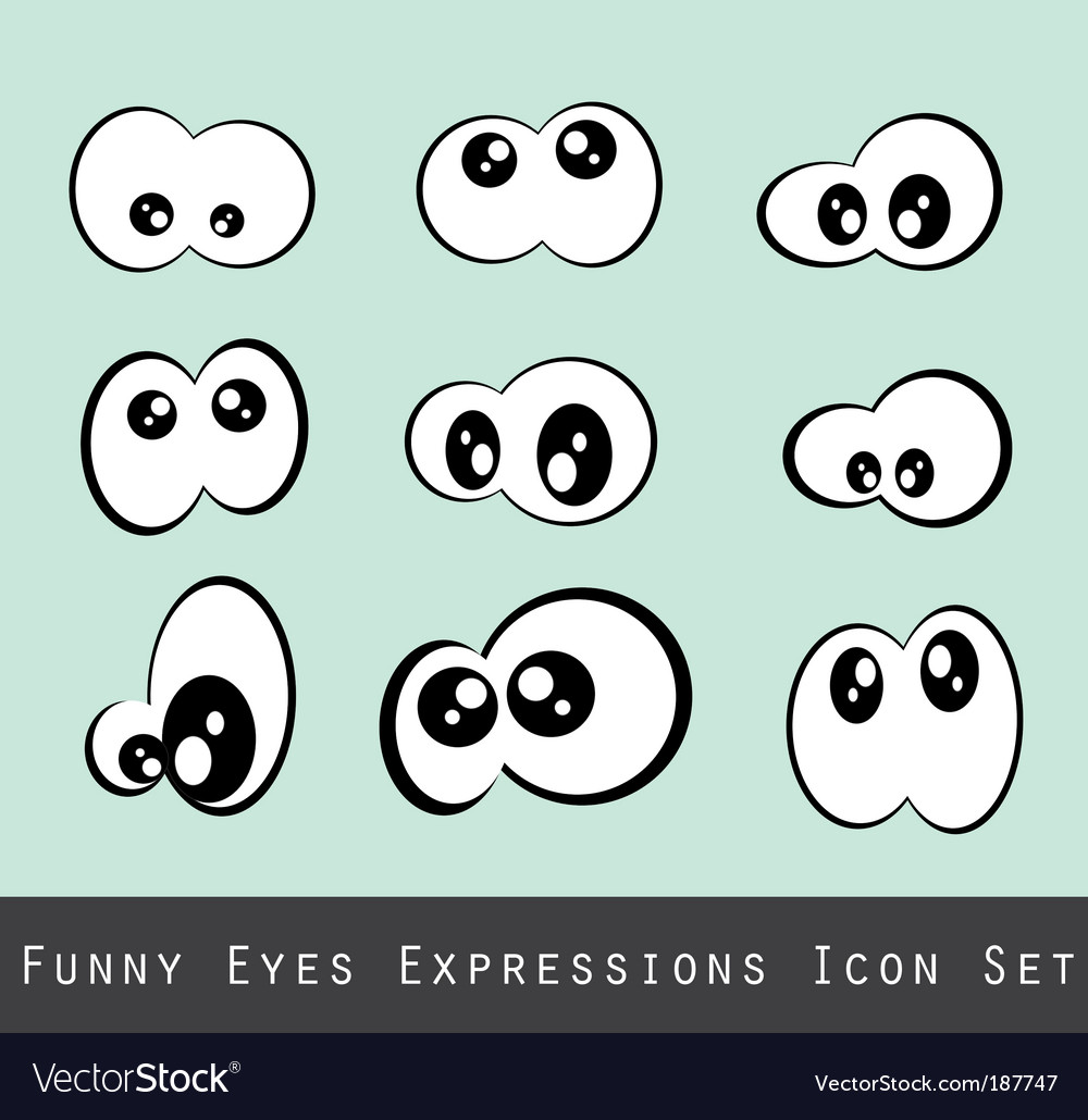 Funny eyes vector image