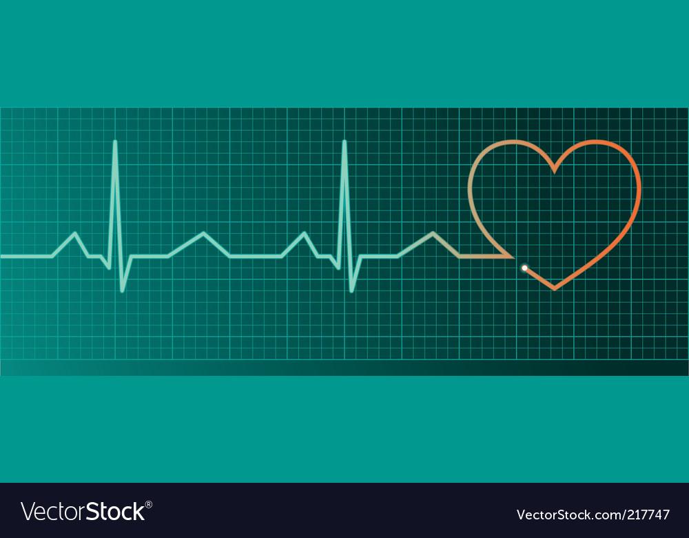 Heart pulse monitor red heart