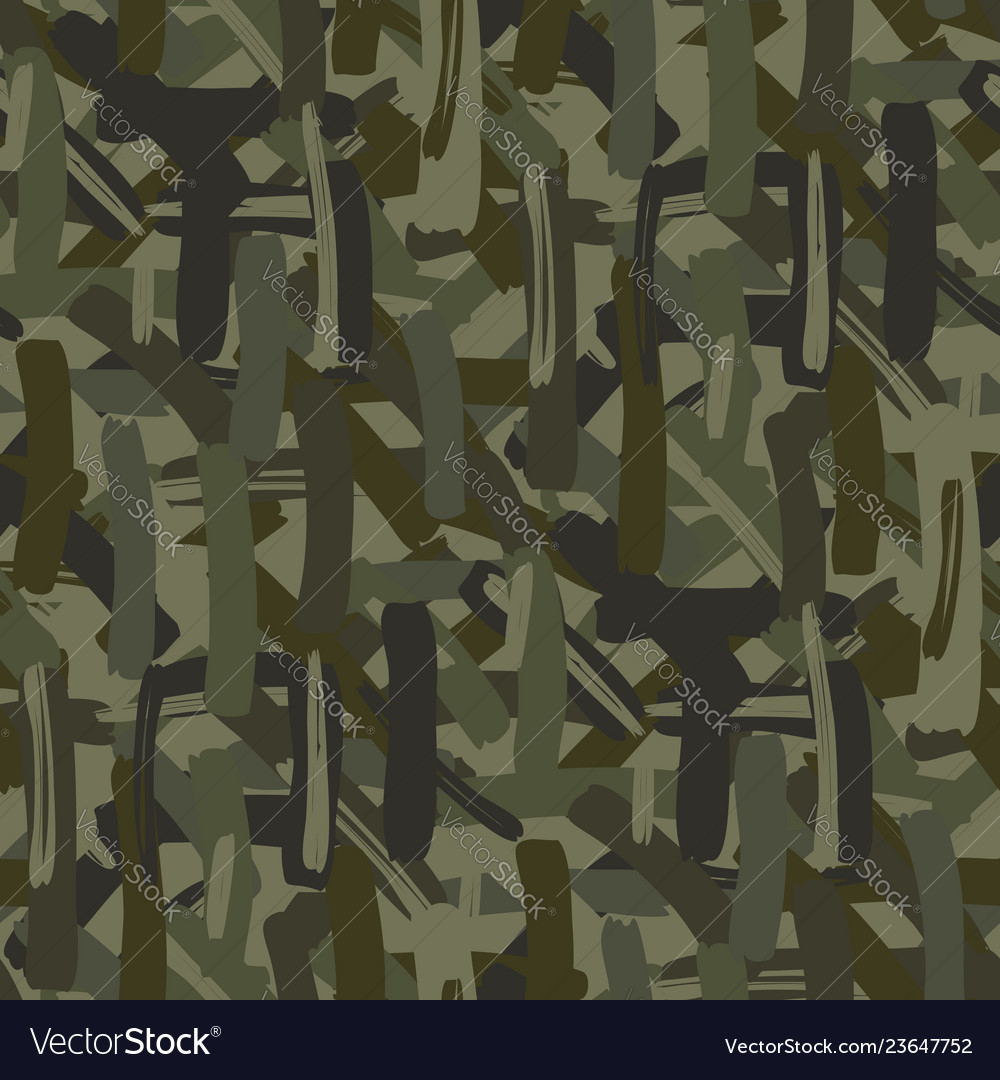 Abstract camouflage repeats seamless pattern