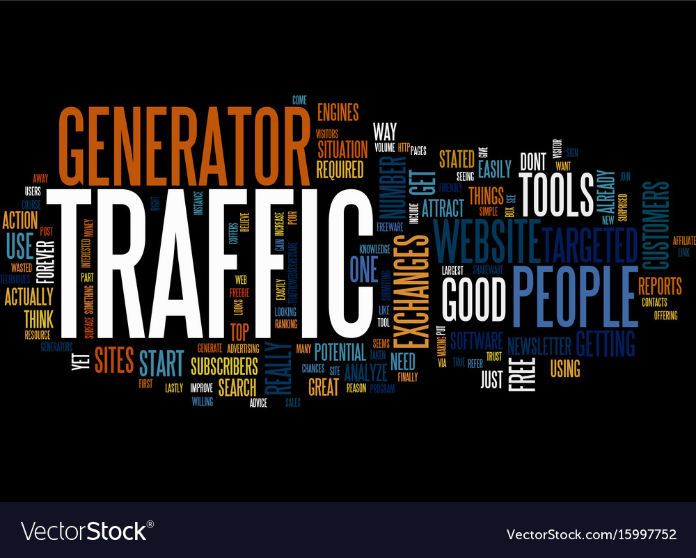 Are you on traffic generator text background word