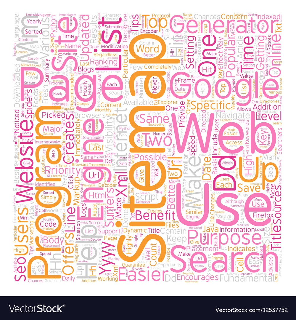 Benefits Of A SEO Sitemap Generator text