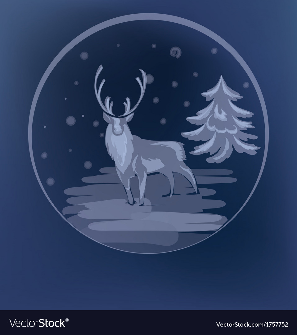 Christmas standing raindeer background