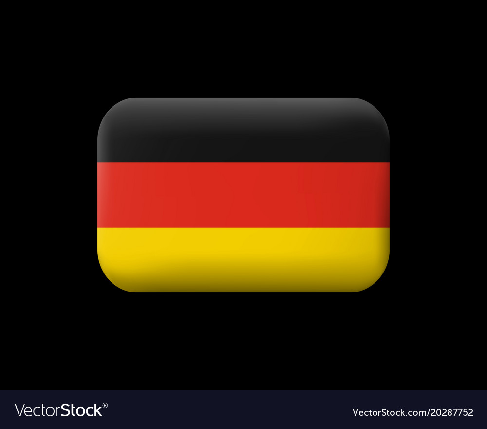 Flag of germany matted icon and button