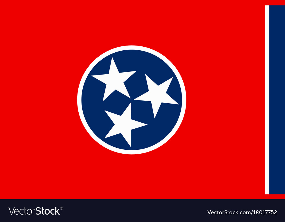 Flag of tennessee usa