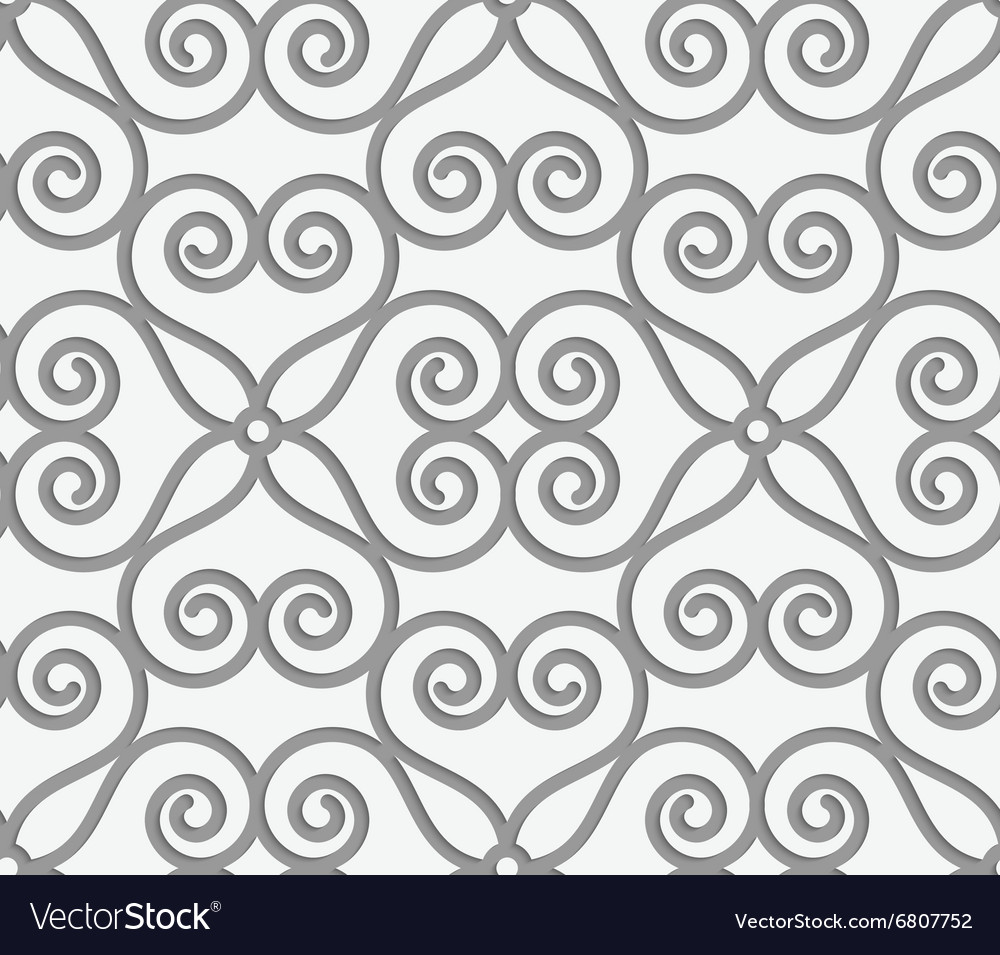 Perforated swirly flower grid