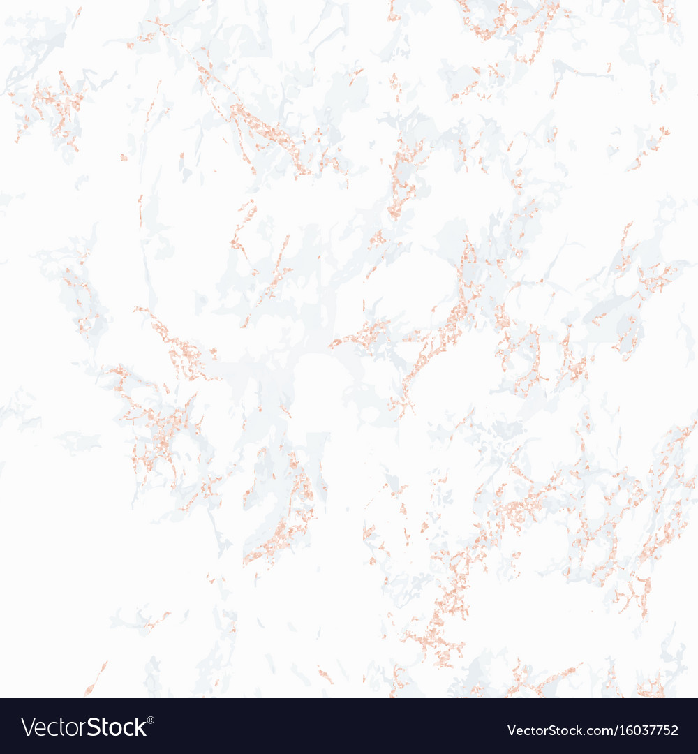 White marble texture with rose gold vector image