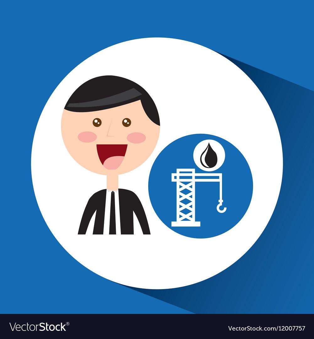 Businessman oil concept tower petroleum vector image