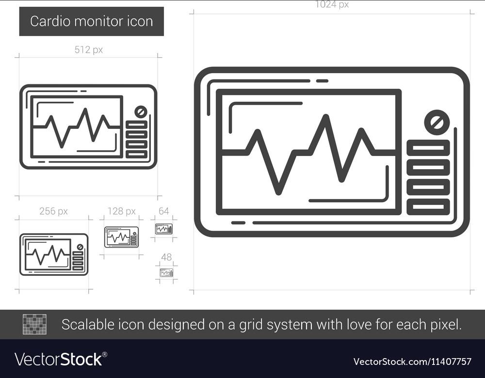 Cardio monitor line icon
