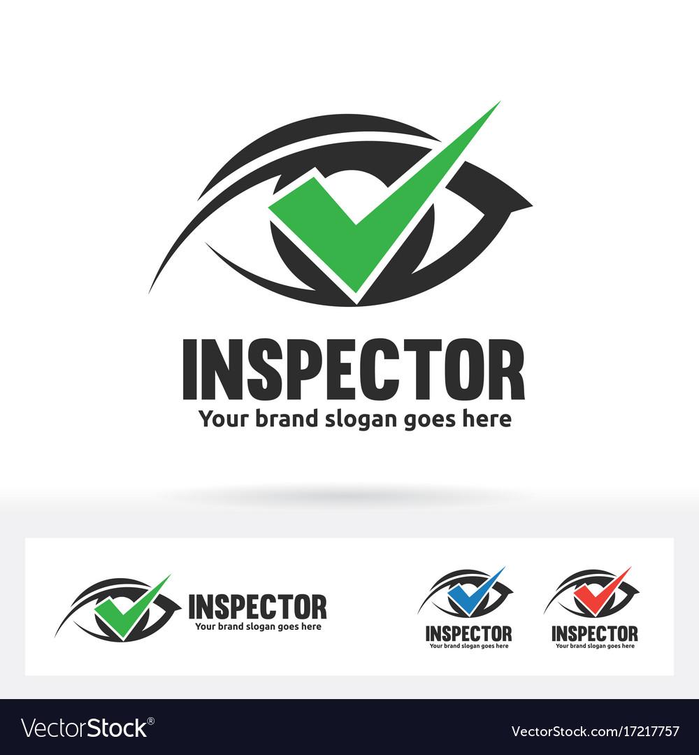 Eye check logo ophthalmologist clinic brand vector image
