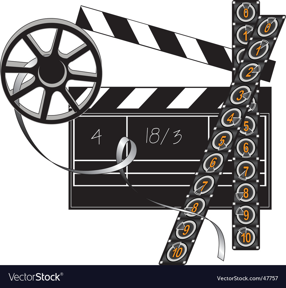 Filmmaker set vector image