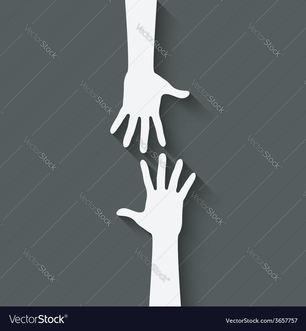 Helping hand symbol vector image