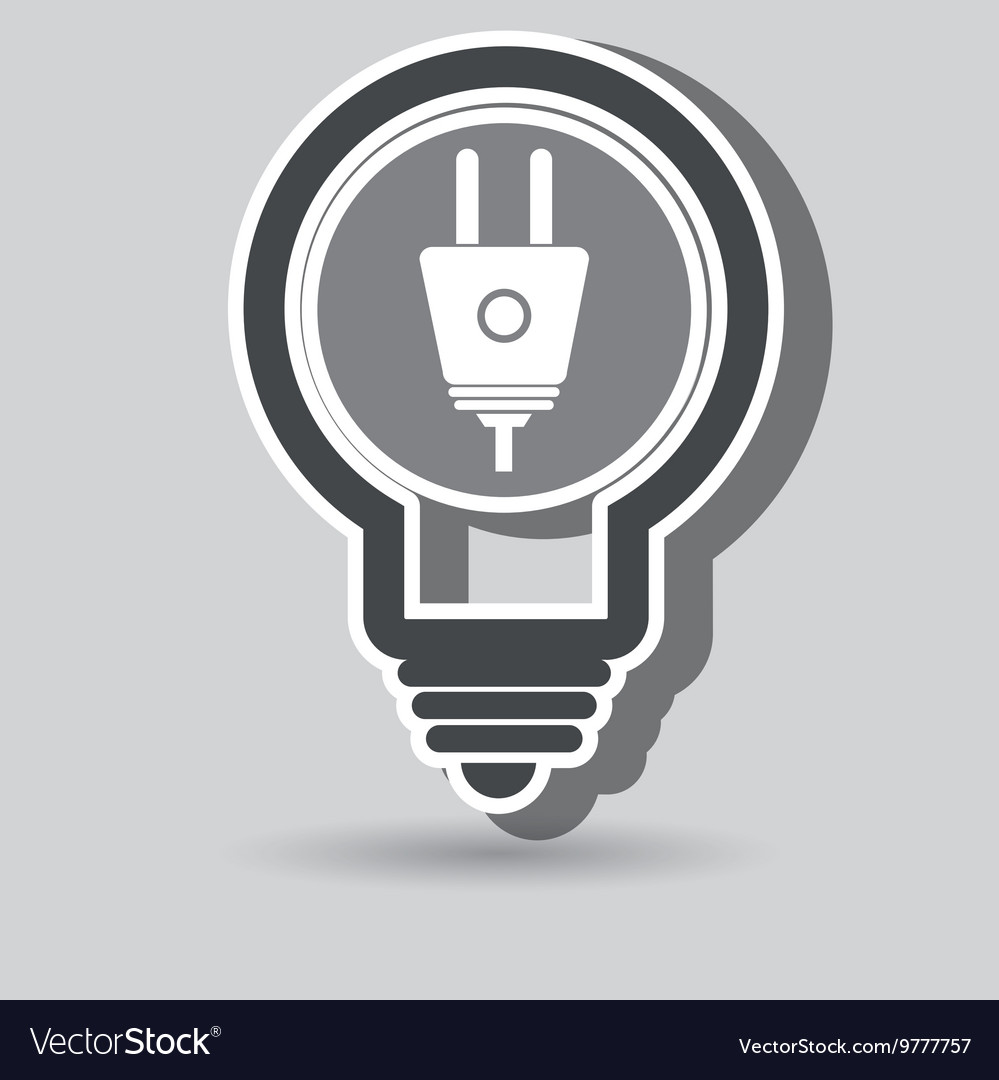 Power cable isolated icon design vector image