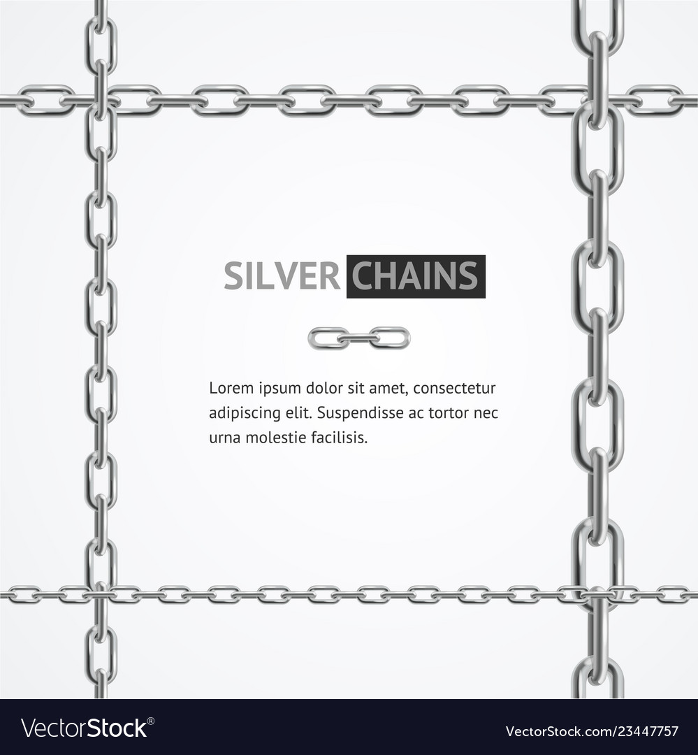 Realistic 3d detailed chain frame steel