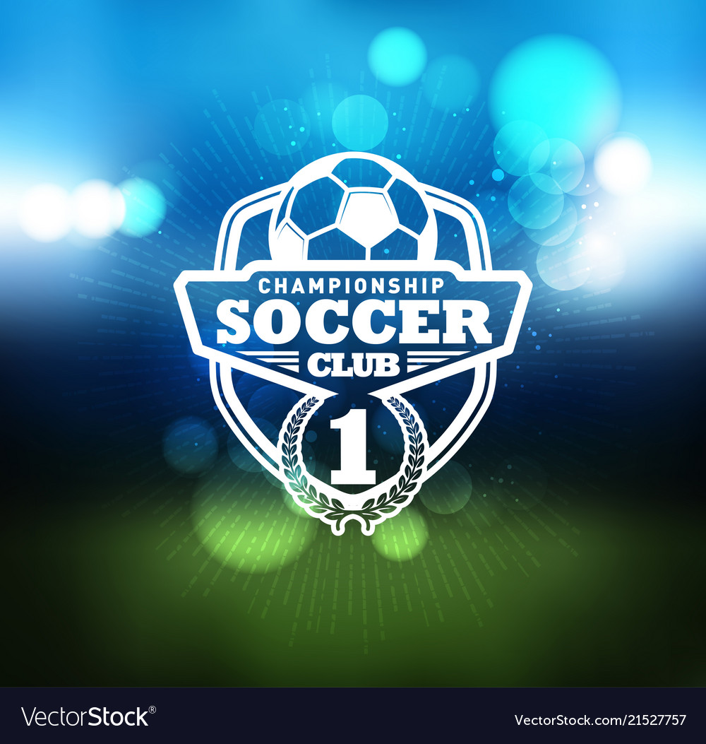 Soccer football badge logo design template