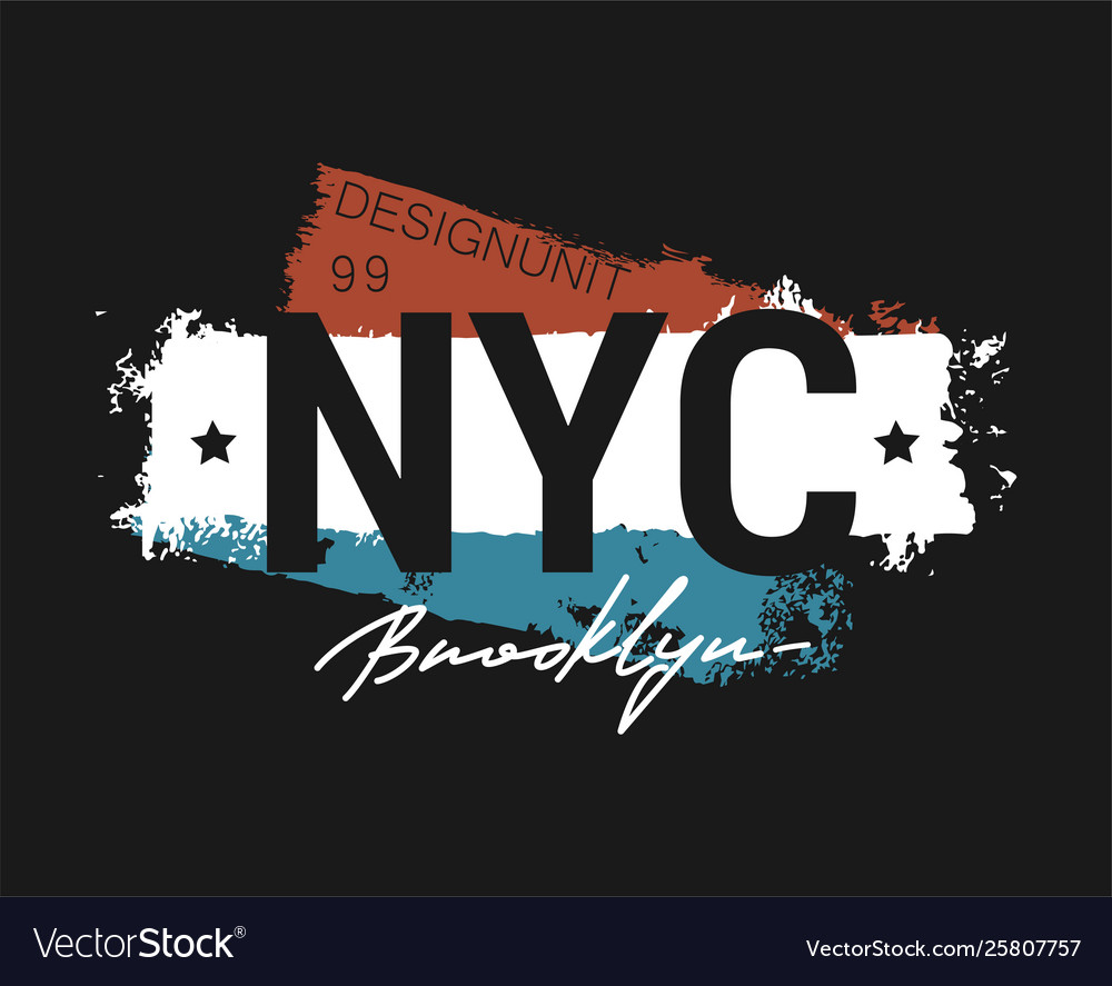T-shirt - new york city apparel abstract design