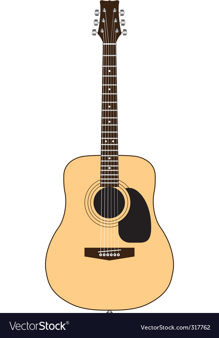 acoustic guitar royalty free vector image vectorstock rh vectorstock com acoustic guitar vector silhouette acoustic guitar vector image