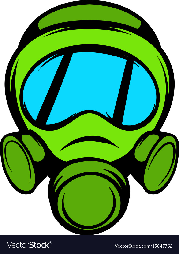 gas mask icon icon cartoon royalty free vector image rh vectorstock com cartoon character with gas mask cartoon drawing gas mask