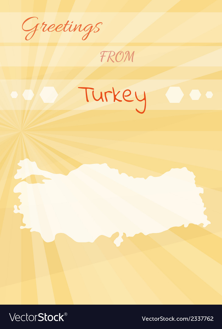 Greetings from turkey royalty free vector image greetings from turkey vector image m4hsunfo