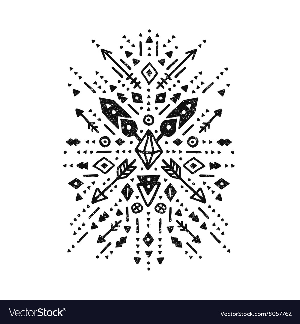 Hand drawn tribal art