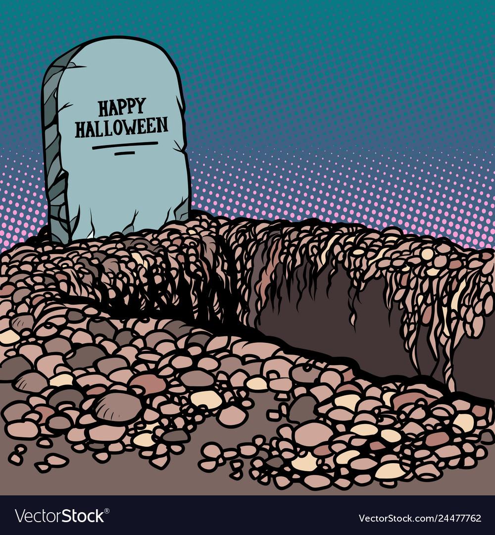 Happy halloween grave